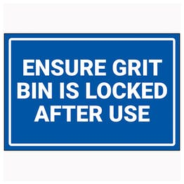 Ensure Grit Bin Is Locked After Use