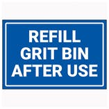 Refill Grit Bin After Use