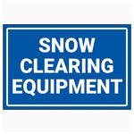 Winter Equipment Signs