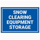 Snow Clearing Equipment Storage