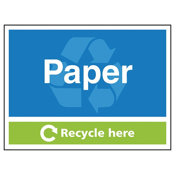 Paper Recycle Here