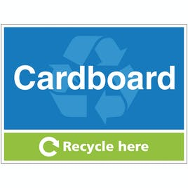 Cardboard Recycle Here