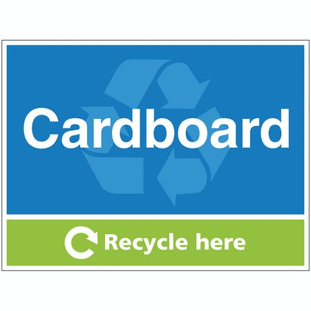 Cardboard Recycle Here