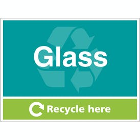Glass Recycle Here