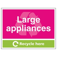 Large Applicances Recycle Here