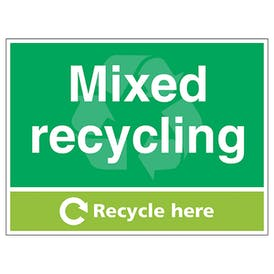 Mixed Recycling Recycle Here