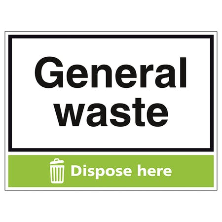 General Waste Dispose Here