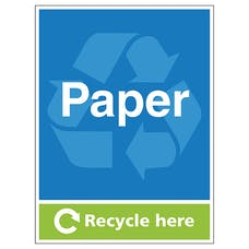 Paper Recycle Here - Portrait