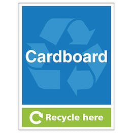 Cardboard Recycle Here - Portrait