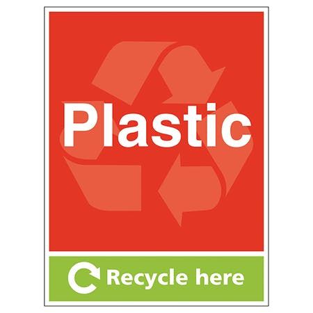 Plastic Recycle Here - Portrait