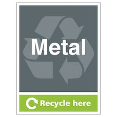Metal Recycle Here - Portrait