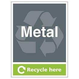 Metal Recycle Here - Portrait