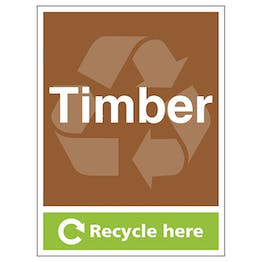 Timber Recycle Here - Portrait