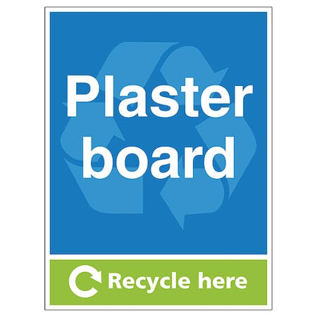 Plasterboard Recycle Here - Portrait