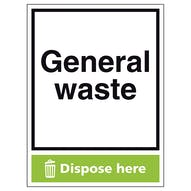 General Waste Dispose Here - Portrait