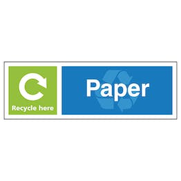 Paper Recycle Here - Landscape