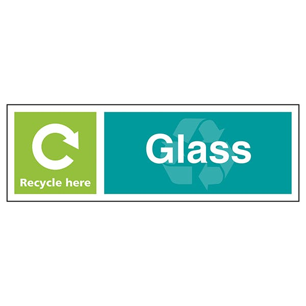 Glass Recycle Here - Landscape