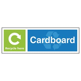 Cardboard Recycle Here - Landscape