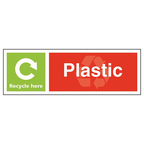 Plastic Recycle Here - Landscape