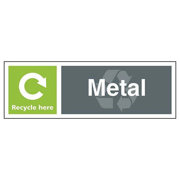 Metal Recycle Here - Landscape