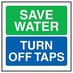 Save Water Turn Off Taps