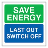 Save Energy Last Out Switch Off