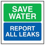 Save Water Report All Leaks