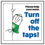 Please Help Save Water Turn Off The Taps! Man Left