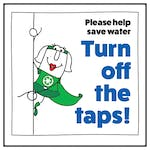 Please Help Save Water Turn Off The Taps! Woman Left