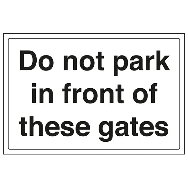 Do Not Park In Front Of These Gates