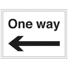 One Way Arrow Left