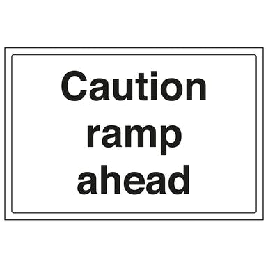 Caution Ramp Ahead - Large Landscape