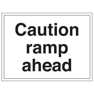 Caution Ramp Ahead - Large Landscape