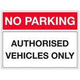 Authorised Vehicles Only - Landscape
