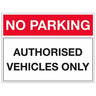 Authorised Vehicles Only - Landscape