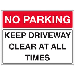 Keep Driveway Clear At All Times - Landscape