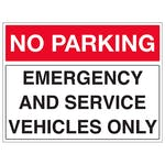 Emergency And Service Vehicles Only - Landscape