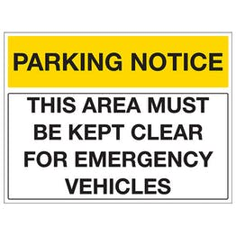 This Area Must Be Kept Clear For Emergency Vehicles - Landscape