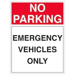 Emergency Vehicles Only - Portrait