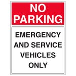 Emergency And Service Vehicles Only - Portrait