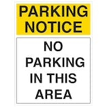No Parking In This Area - Portrait