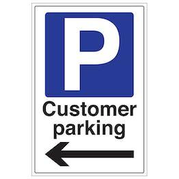 Customer Parking Arrow Left - Portrait