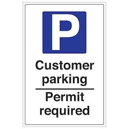 Customer Parking Permit Required - Portrait