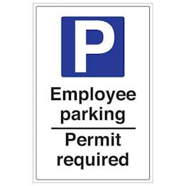 Employee Parking Permit Required - Portrait