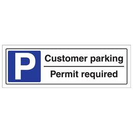 Customer Parking Permit Required - Landscape