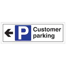 Customer Parking Arrow Left - Landscape