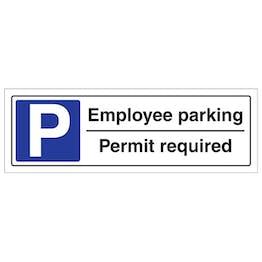 Employee Parking Permit Required - Landscape
