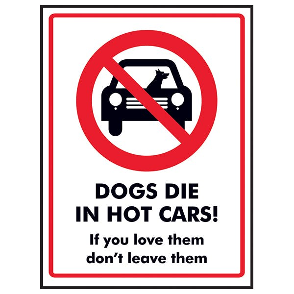 Dogs Die In Hot Cars! If You Love Them Don't Leave Them