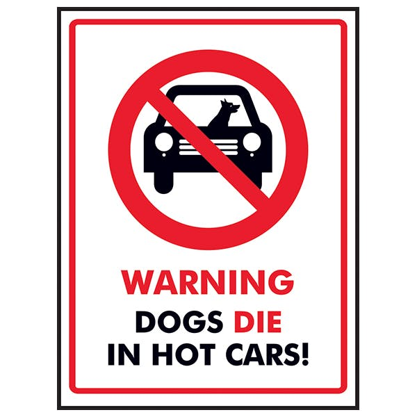 Warning Dogs Die In Hot Cars