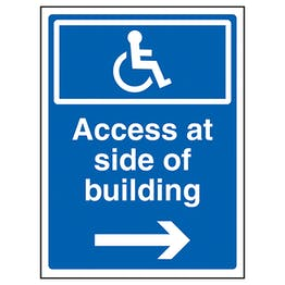 Access At Side Of Building Arrow Right